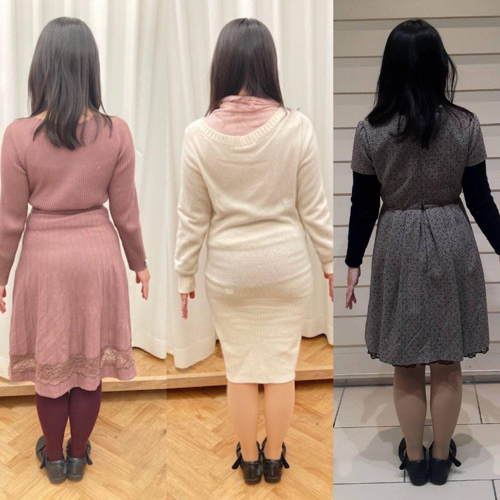 白い壁の前に立つ女性たち  低い精度で自動的に生成された説明