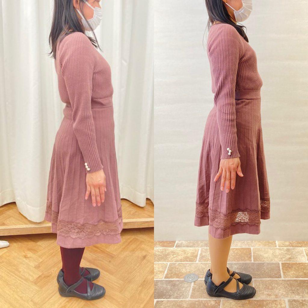 ドレスを着て立っている女性たち  中程度の精度で自動的に生成された説明