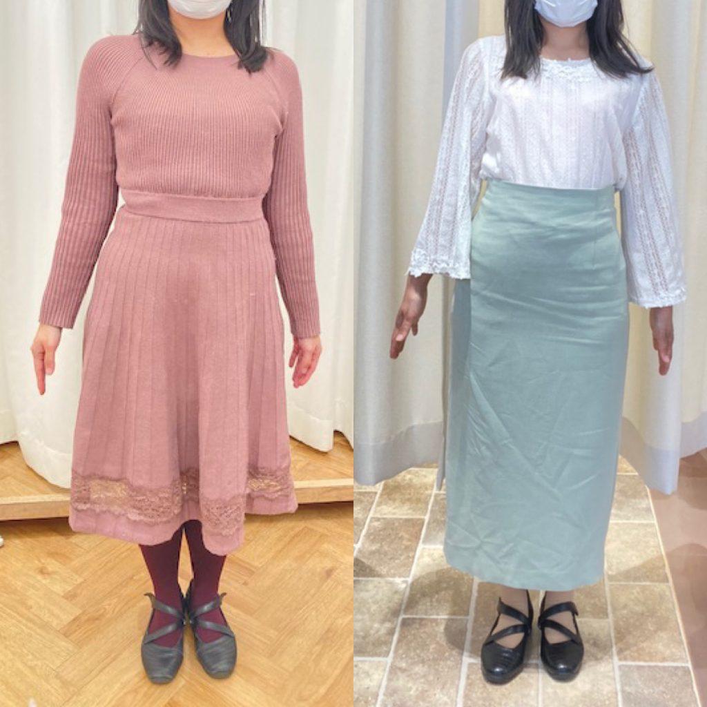 ドレスを着て立っている女性たち  自動的に生成された説明